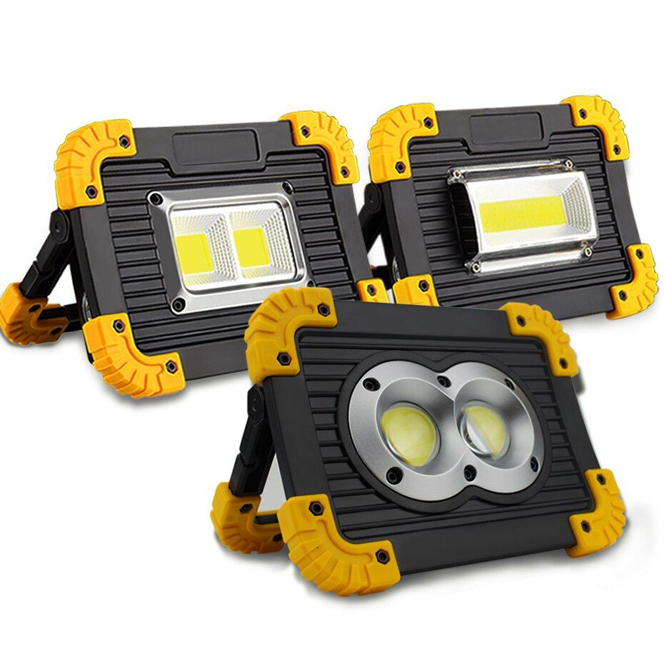 Lampe Led Portable Spotlight Led Work Light Rechargeable 18650 Battery Outdoor Light For Hunting Camping Led Latern Flashlight