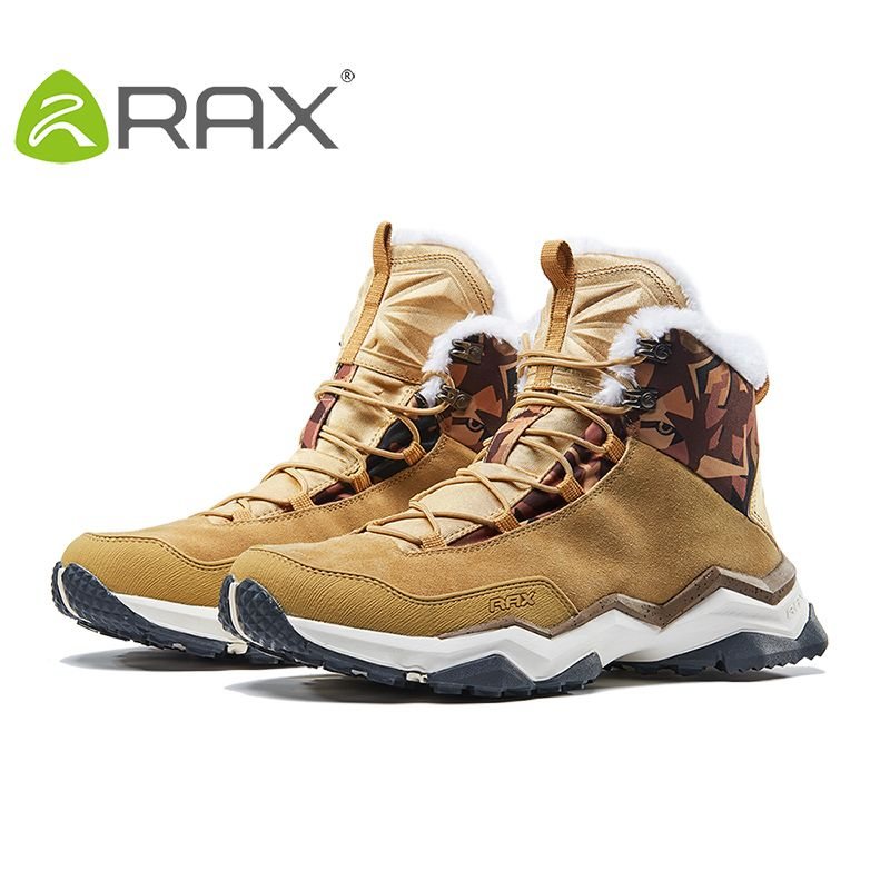 RAX Men's Winter Mountain Trekking Anti-slip ShoesBreathable Comfortable Soft Mountain Shoes Hiking Boots for Professional Men