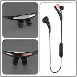 Hongsund K9 Magnetic Suction Double Battery Super Stereo Bluetooth 4.1 Headphone Noise Cancelling Earphone Bass Sport Headset
