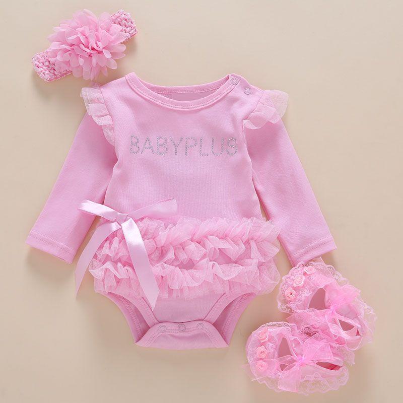 Body bébé 3 pcs/paquet 0-2 ans coton enfants bébé fille One-pieces avec manches longues bébé body bébé combinaison