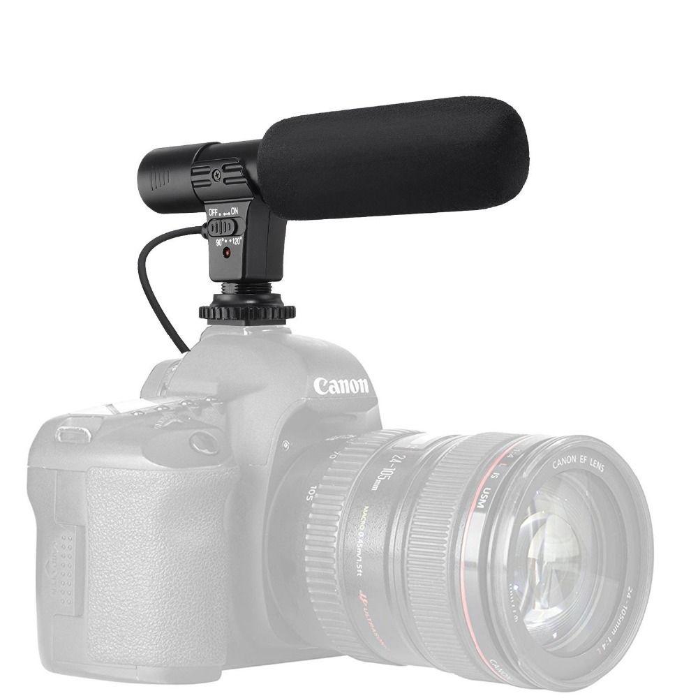 Microphone 3.5mm Digital Video Recording Interview Hifi HD Sound Mini Mic Phone Microphone For SLR DSLR Camera Phone Microphone