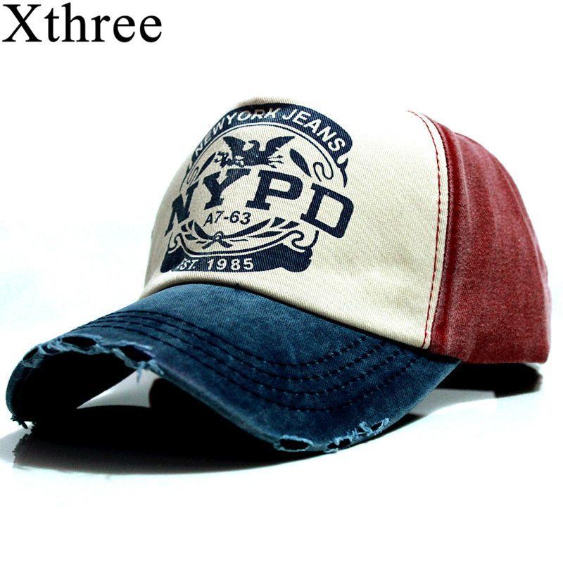 Xthree wholsale marque casquette de baseball équipée chapeau chapeau Occasionnel gorras 5 panneau hip hop snapback chapeaux wash cap pour hommes femmes unisexe