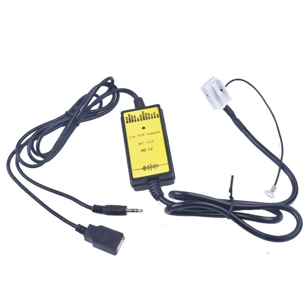 Pour VW voiture adaptateur CD MP3 Interface Audio AUX USB SD 12 P brancher changeur CD pour Audi A3 A4 pour VW Beetle Golf pour Skoda Superb