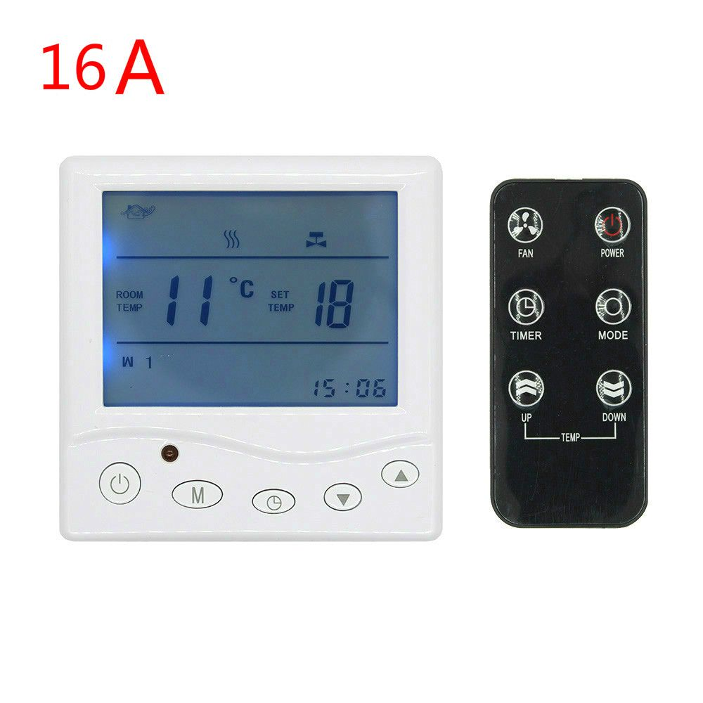 16A 3A programmable thermostat Digital Temperature Controller radio control for underfloor heating heater room radiant