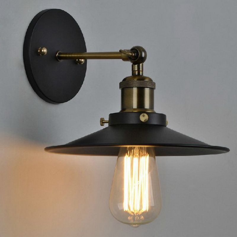 Vintage Plated Industrial Wall Lamp Retro Loft LED Wall Light Lamparas De <font><b>Pared</b></font> Stair Bathroom Iron Wall Sconce Abajur Luminaria