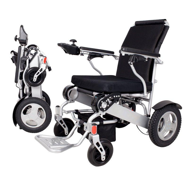 Faltbare leichte reise elektro-rollstuhl für behinderte