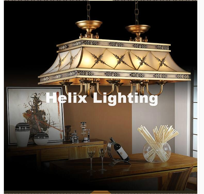 Decra Brass Candle Chandelier AC90-260V 10 Arms Lamps Glass Lampshade Copper Material Chandelier Big Size Living Room Chandelier