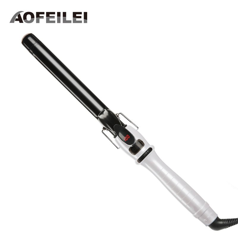2017 Sale Real Professional Automatic Hair Curler Rollers Ceramic Cone Salon Curling Irons Wand Hairstyling Tool Electric Curly