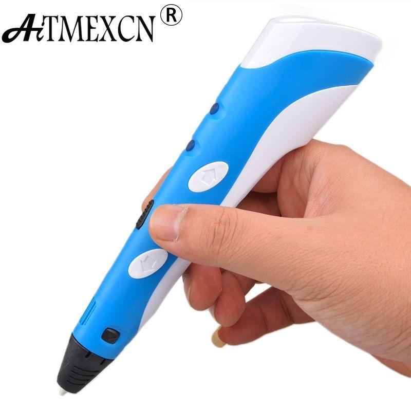 De noël D'anniversaire cadeau Magique 3D Imprimante Stylo Dessin 3D Impression stylo Meilleur pour Enfants DIY avec 3 Couleur ABS Filament 1.75mm