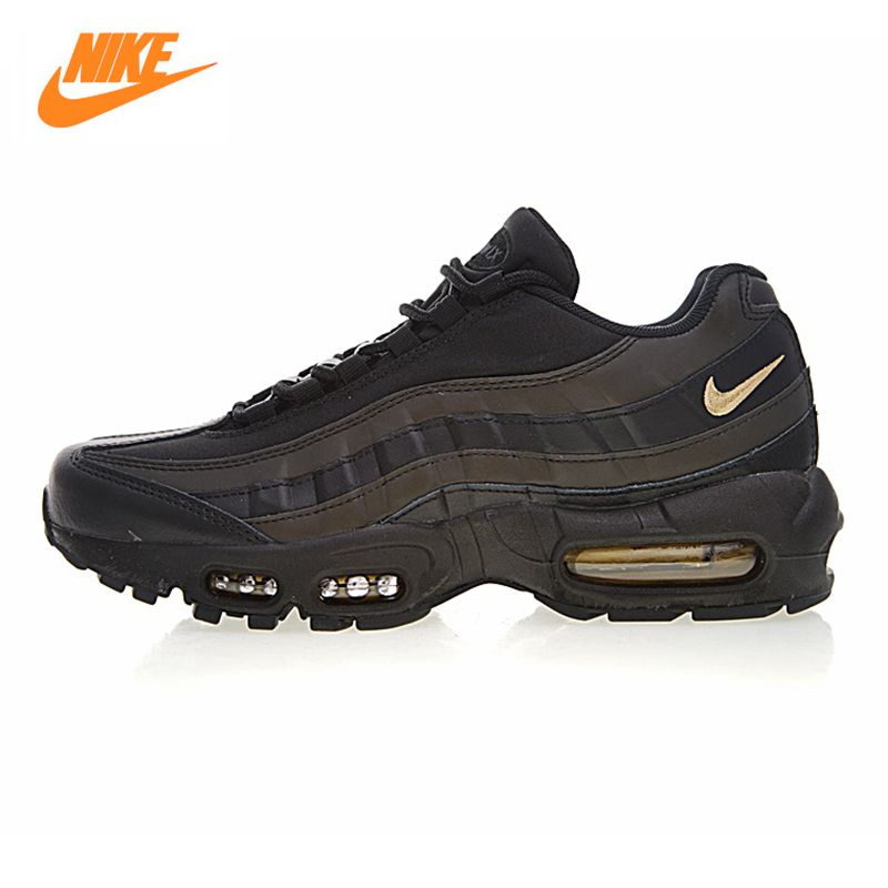 NIKE AIR MAX 95 ESSENTIAL Men's Running Shoes,Outdoor Sneakers Shoes, Black, Breathable Shock-absorbing Non-slip 924478 003