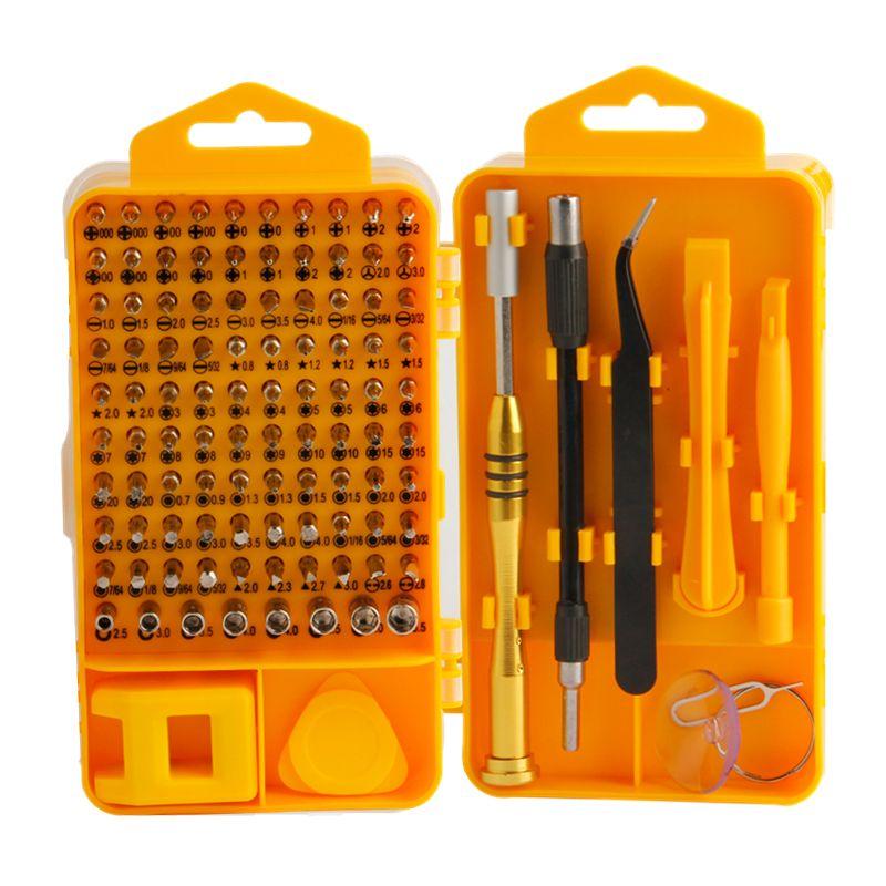 EVANX 108 pcs Tournevis De Précision Ensemble Multitool Embout Magnétique Ensemble Pour Portable Téléphone Portable Entretien Réparation Outils