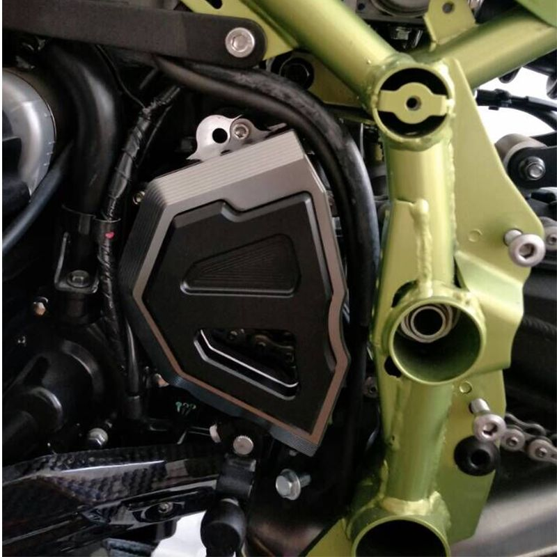 KEMiMOTO For kawasaki Z900 2017 Front Chain Sprocket Cover Engine Guard Chain Cover Slider Motocycle For Kawasaki Z 900 2017