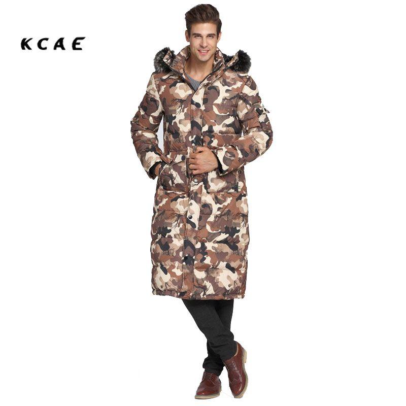 Neue Class herren Winter Lange Camouflage Mäntel Mit Kapuze Jacken Dicke Warme Mode Lässig Stehkragen Abnehmbare Pelzkragen 5 farbe