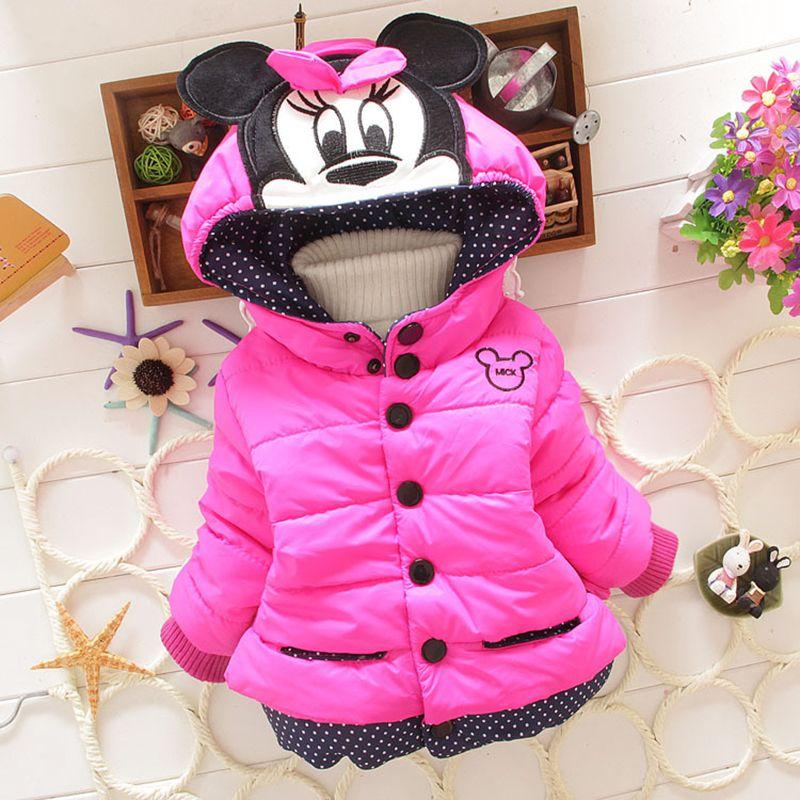 Livraison directe 2018 nouveaux enfants hiver manteaux à capuche veste d'hiver enfants manteau enfants hiver filles vêtements épais vers le bas et Parkas