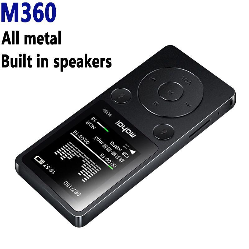 Махди M360 Портативный металла MP3-плееры встроенный громкий Динамик 1.8