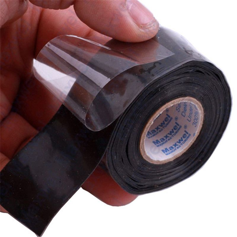 New Useful Waterproof Black Silicone Performance Repair Bonding Rescue Self Fusing Wire Hose