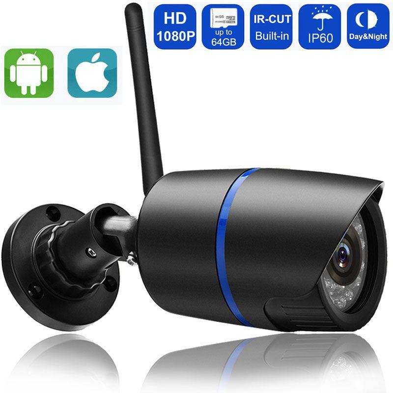 1080P 960P 720P Wifi IP Camera Wireless P2P Surveillance CCTV Bullet Outdoor Camera With SD Card Slot Security Video