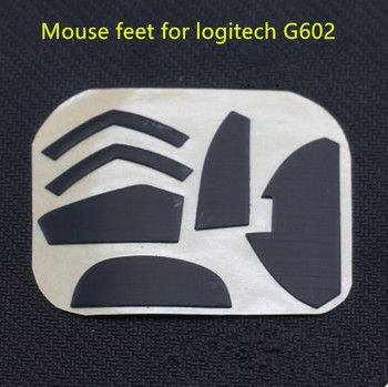 2 sets/pack Teflon mouse skates mouse feet for Logitech G602 replacement mouse glides Thickness is 0.75mm