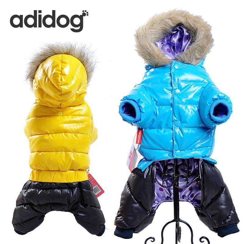 Vente chaude D'hiver Pet Vêtements Pour Chiens Super Chaud Vers Le Bas Veste pour Petits Chiens Étanche Chien Manteau Épais Coton Hoodies Pour Chihuahua