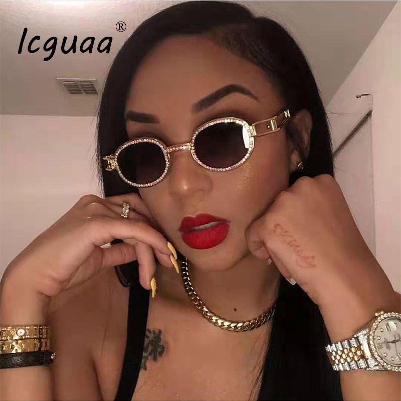 Vintage Personality sunglasses brand designer Diamond Sunglasses Women Steampunk Multicolor Rhinestone Shades UV400 Oculos