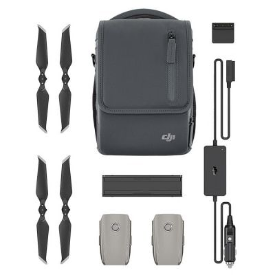 DJI Mavic 2 Fly More Kit include Car Charger Charging Hub Battery to Power Bank Adapter Low-Noise Propellers Shoulder Bag