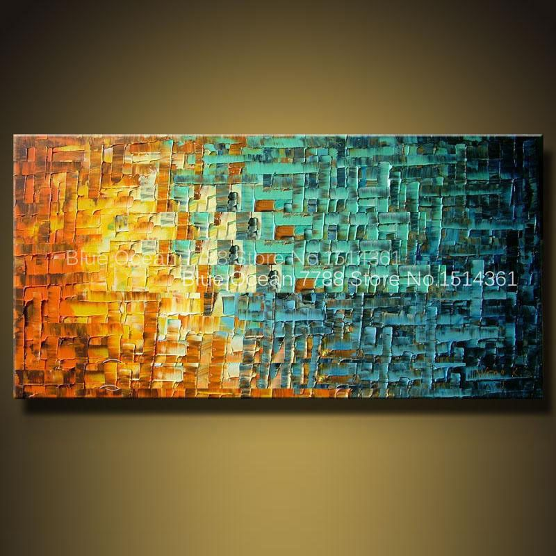 2015 modern abstract landscape palette knife art deco oil paintings Home Decoration Living Room Wall Pictures Knife painting