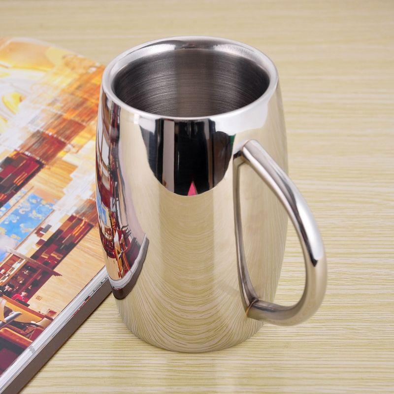 Double paroi en acier inoxydable gobelet tasse isolé café tasse bière thé tasse boisson tasse caneca criativa cerveja 300 ml 430 ml