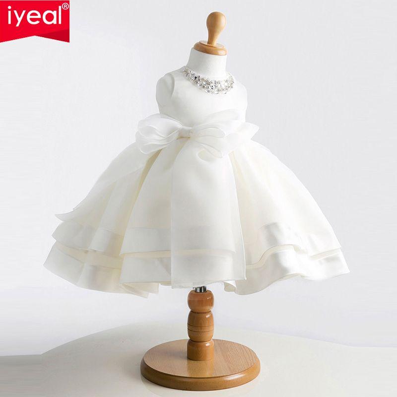IYEAL Marque Nouvelles Filles Pageant Robes Pour Bébé Enfants Princesse Fleur fille Robes Enfants Formelle De Noce Robe De Baptême
