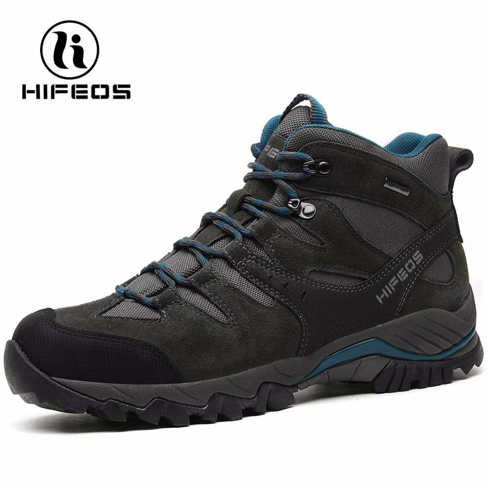 HIFEOS men's sneakers non-slip athletic breathable camping shoes outdoor sports waterproof climbing tactical hiking boots M02C