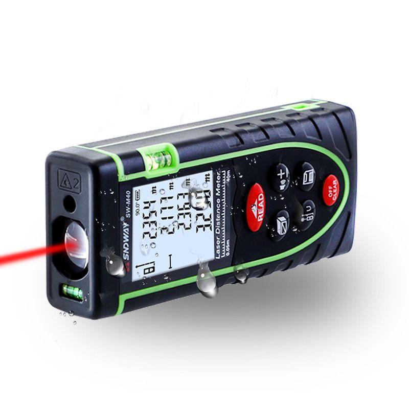 40M Laser <font><b>Distance</b></font> Meter IP54 Digital Electronic Handheld Precision 1.5mm Rangefinder Tape Measure Portable Area/volume tool