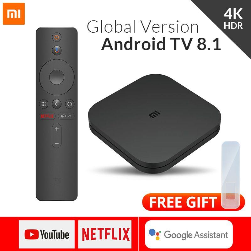 Version mondiale Xiao mi TV Box S Smart 4K Ultra HD 2G 8G Android 8.1 WiFi Google Cast Netflix lecteur multimédia IPTV décodeur 4