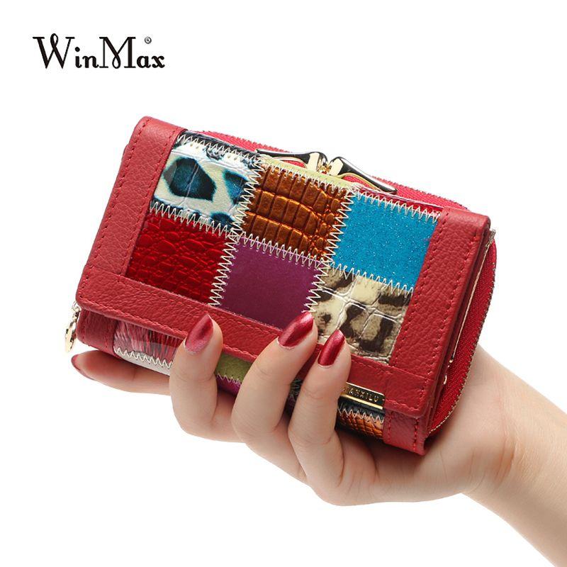 Для женщин Элитный бренд Модные Пояса из натуральной кожи лоскутное бумажник Для женщин маленький кошелек женский короткие Дизайн