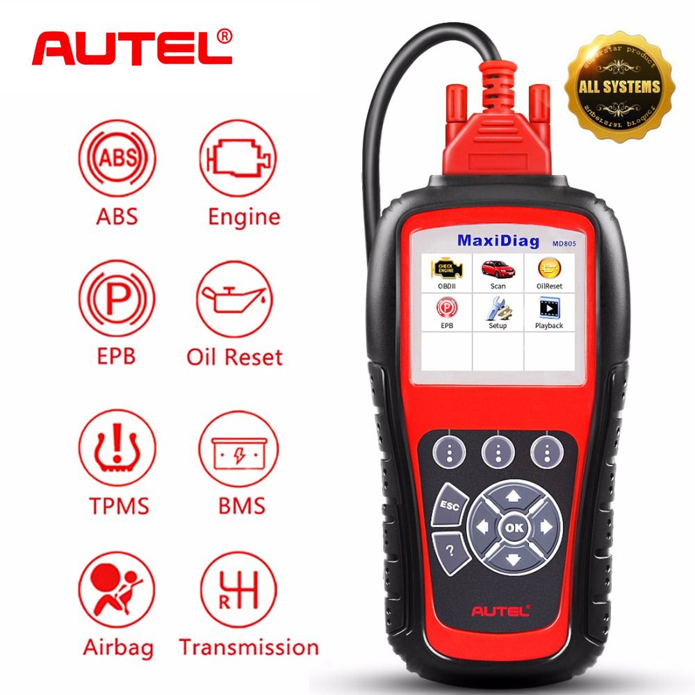 Autel MaxiDiag MD805 Alle System Auto ABS Airbag SRS EPB OBD2 Code Reader Scanner Motor Übertragung TPMS OBDII Diagnose Werkzeug