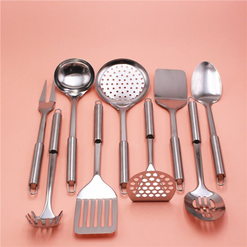 To encounter Set Of 9 Accessories Kitchen Supplies Stainless Steel Cooking Tools Multifunction Upscale Kitchenware Gadgets