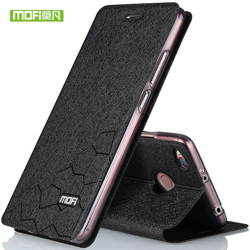 Xiaomi Redmi 4X Fall 5,0 Abdeckung Silikon TPU Flip Leder Harte schwarz Ccoque Ursprüngliche Mofi Xiaomi redmi 4X Pro Fall Metall Foundas