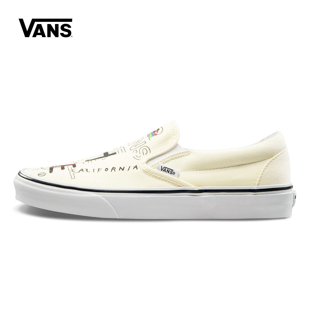 Original New Arrival Vans Mens & Womens Classic Slip-On Low-top Skateboarding Shoes Sneakers Canvas Comfortable VN0A38F7RA3