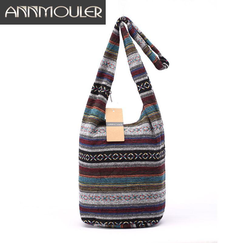 Sac à bandoulière Vintage pour femme Mochila sac à bandoulière Style bohème Style Hippie aztèque Folk Tribal sac à bandoulière