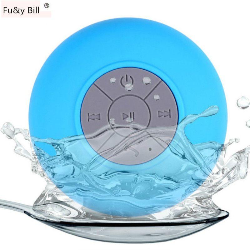 Mini Tragbare Subwoofer Dusche Wasserdichte Drahtlose Bluetooth Lautsprecher Freisprecheinrichtung Empfangsaufruf Musik Saug Mic