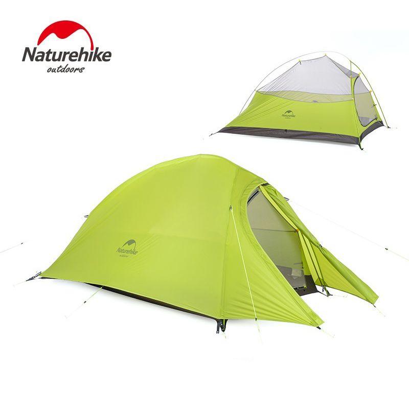NatureHike 2 Persona tienda de Campaña Impermeable de Doble capa tienda de Campaña con Falda de Picnic Ligero 4 temporadas de Campaña NH15T002-T