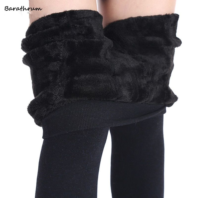 Barathrum Autumn Winter Fashion Women's Plus Cashmere Tights High Quality Knitted Velvet Tights Elastic Slim Warm Thick Tights