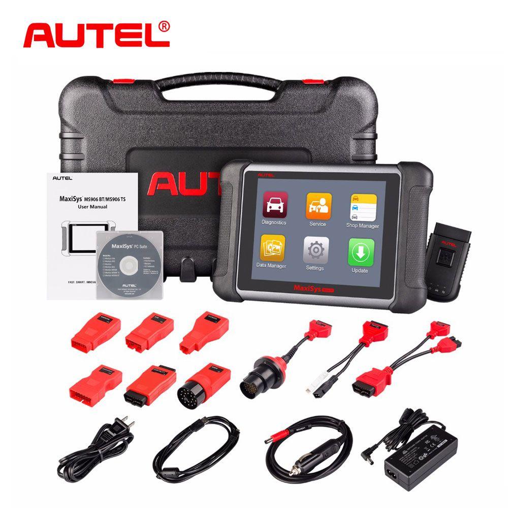 Original AUTEL MaxiSys MS906BT Wireless Car Diagnostic Tool MS906 BT OBD2 ECU Coding Scanner Better than MaxiDAS DS708 DS808
