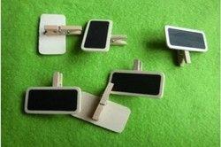 Nueva 10 unids madera Pizarras mini pizarra Memo clip Kid regalo papelería 4 cm * 2 cm * 0.2 CM espesor