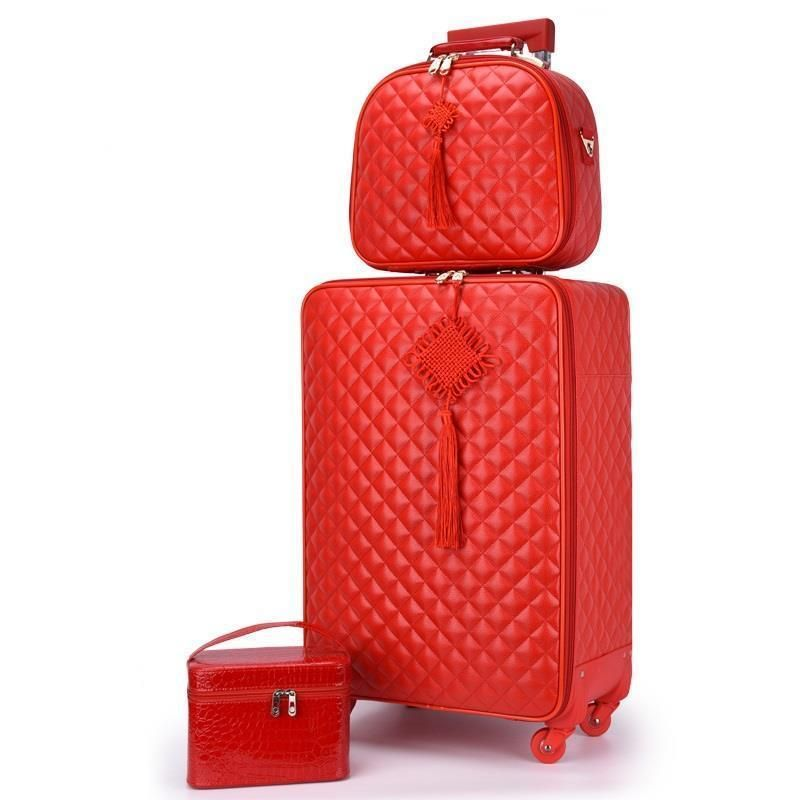 Roulettes Valigia Enfant Koffer Tasche Maleta Y Bolsa Viaje Mala Pu Leder Valiz Trolley Koffer Carro Koffer Gepäck 20
