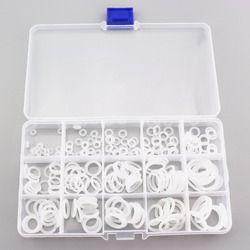 225 PCS = 1 KOTAK PCP Paintball Socket Silicone o-ring Gasket Pengganti Tahan Lama Putih 15 Ukuran Penyegelan O-rings Untuk Skrup Cepat
