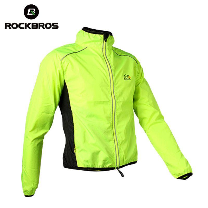ROCKBROS cyclisme hommes équitation respirant réfléchissant Jersey vtt Cycle vêtements à manches longues coupe-vent séchage rapide manteau veste 6 couleurs
