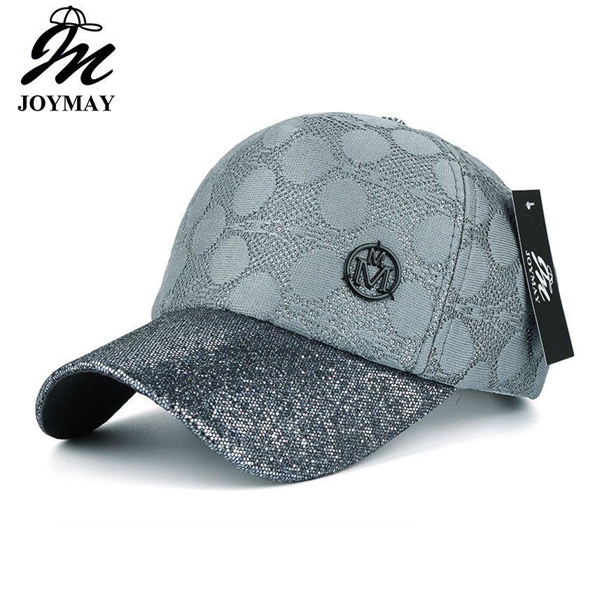 JOYMAY  New arrival high quality fashion snapback cap with shining visor metal M for women baseball cap  B424
