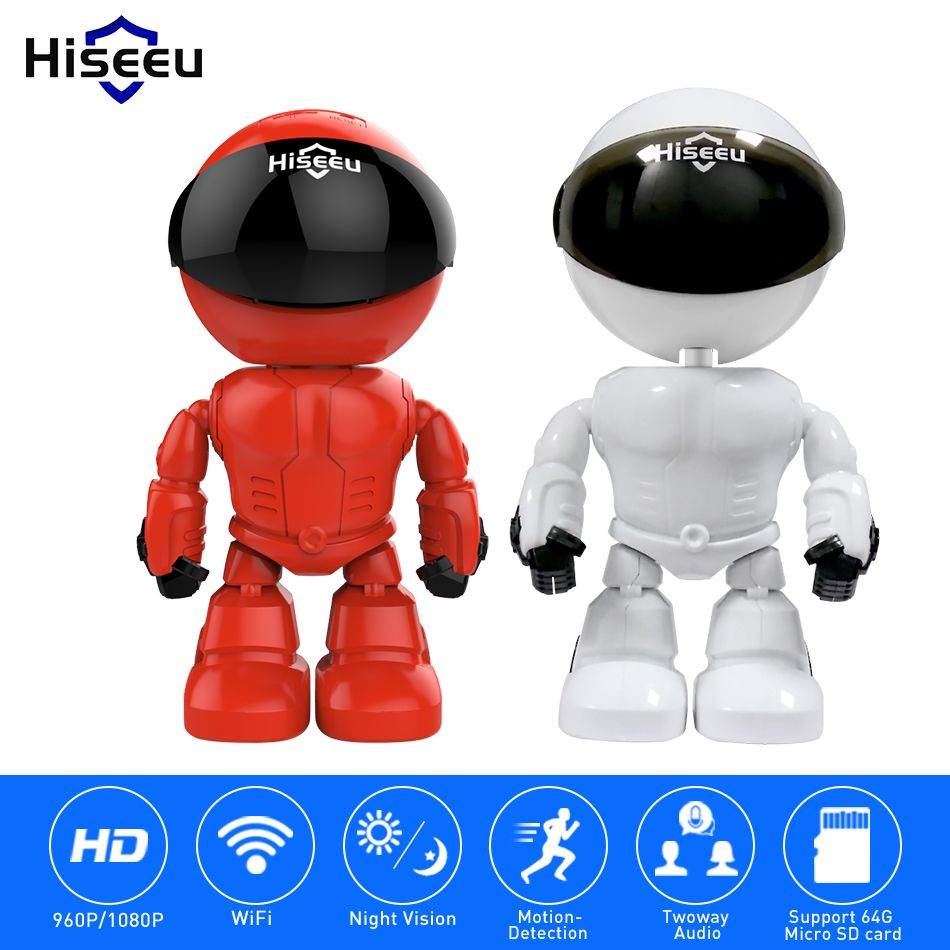 Hiseeu 2MP/1.3MP HD Wireless IP Camera wi-fi Robot camera 1080P Wifi Night Vision Camera IP Network Camera CCTV two-way audio