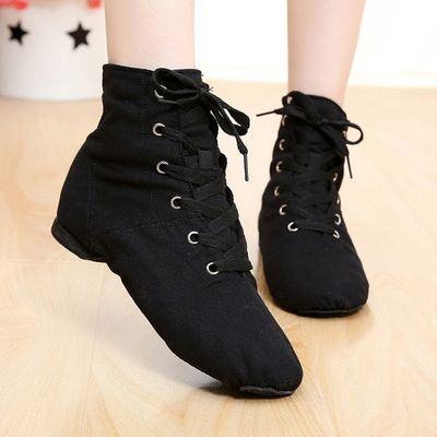 Kids Cloth Jazz Dance Shoes Split Suede Leather Outsole Ballet Fitness Sports Sneakers Athletic Shoes For Teenagers Children
