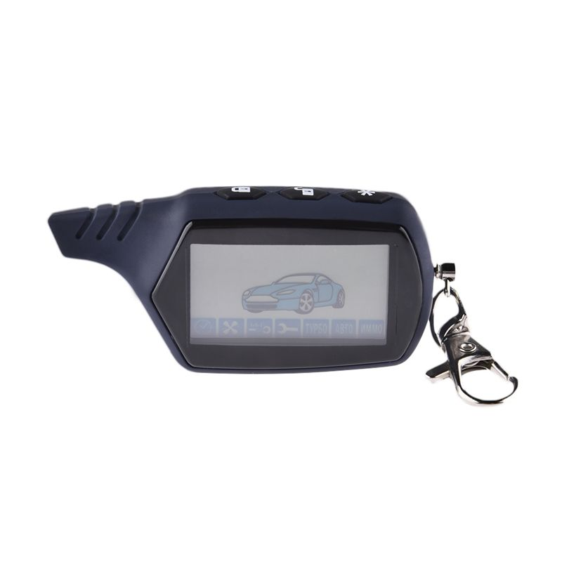 High Quality 2 Way LCD Car Alarm Remote Control Car Anti-theft System For Keychain Starline A91 Russian