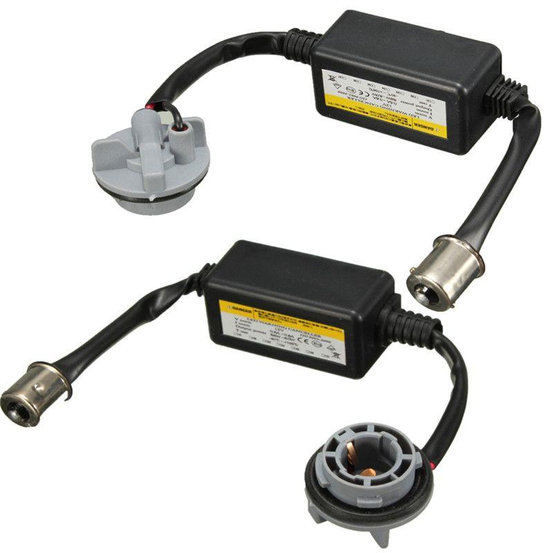 2Pcs 1156 BA15S P21W Error Free LED Decoder Warning Canceller Anti Flicker Load Canbus Resistor For LED Turn Signal Bulb